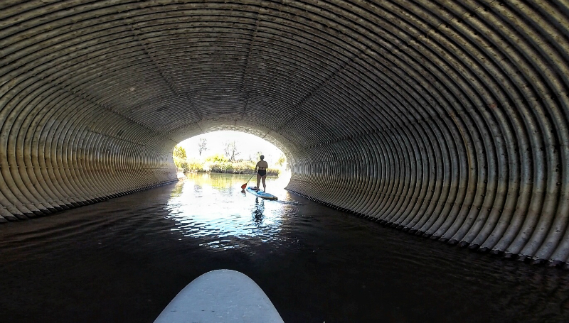 paddle boarding tunnel
