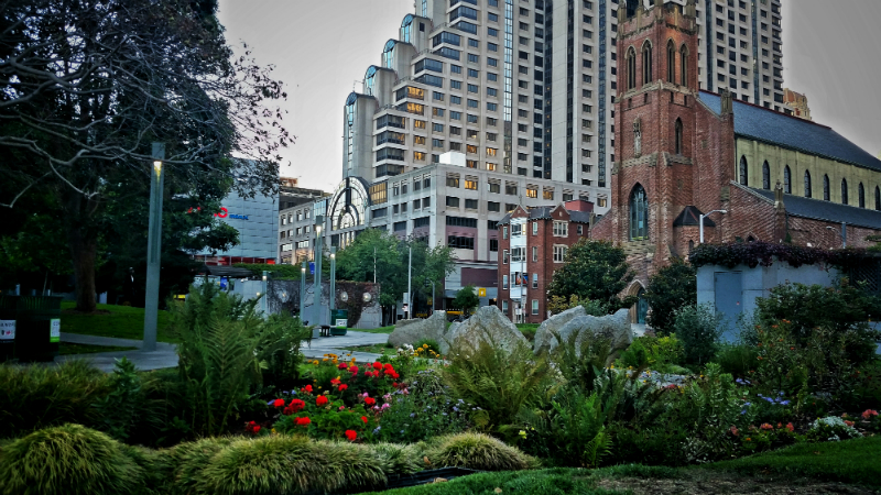 yerba buena gardens church view